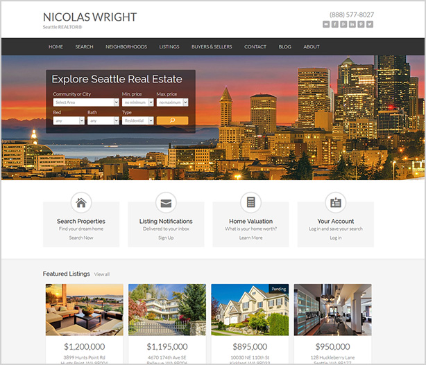 Responsive Real Estate Website Design Seattle