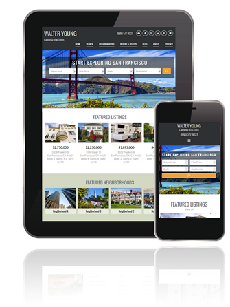 Responsive Real Estate Website Tablet