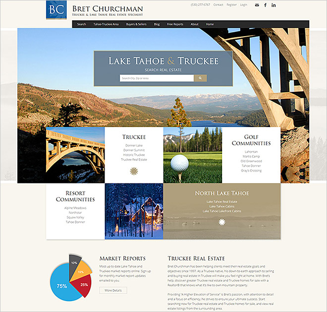 Bret Churchman Real Estate Website