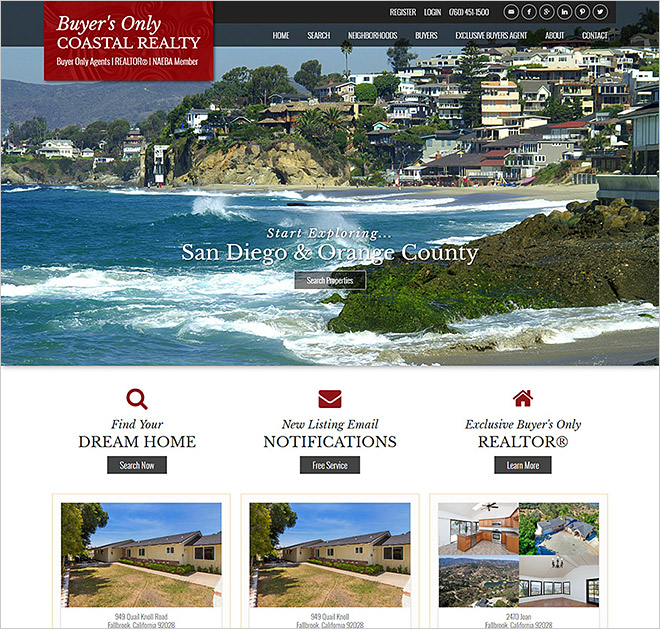 San Diego Real Estate Website Buyers Only