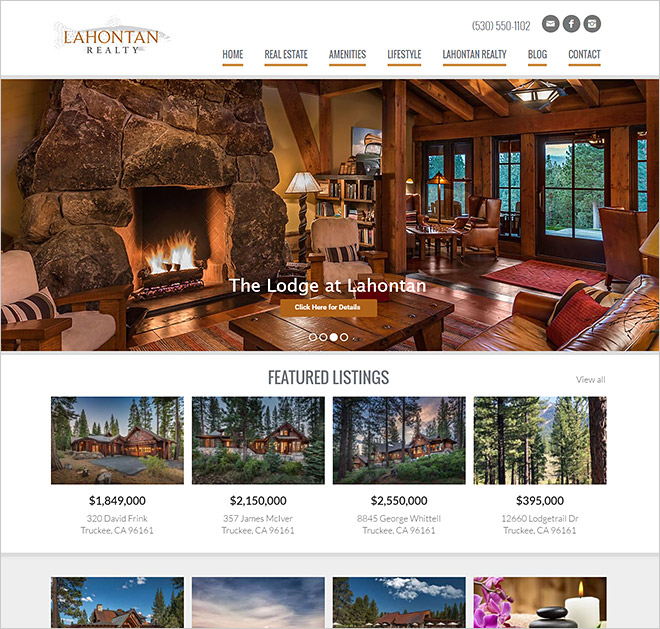 Real Estate Website Lahontan Real Estate