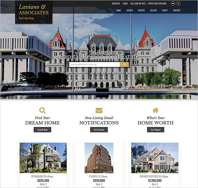 Real Estate Website Laviano Associates