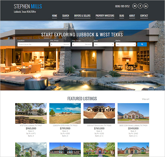 Texas Real Estate Website Stephen Mills