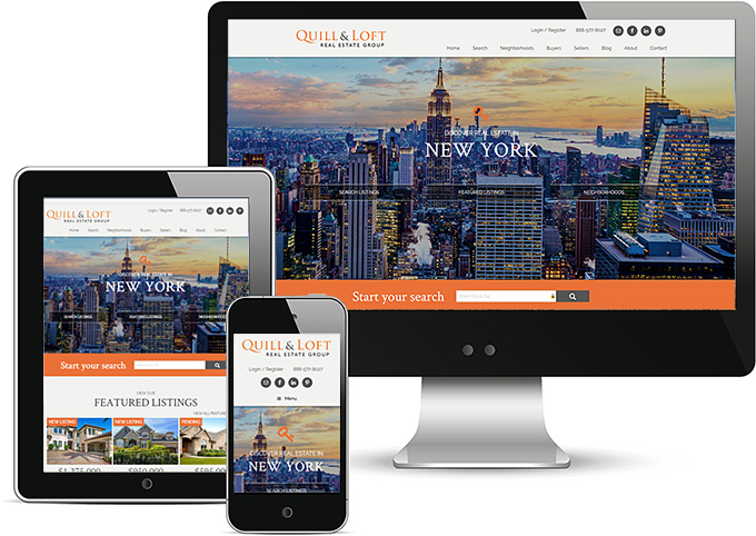 Real Estate WordPress Responsive Design