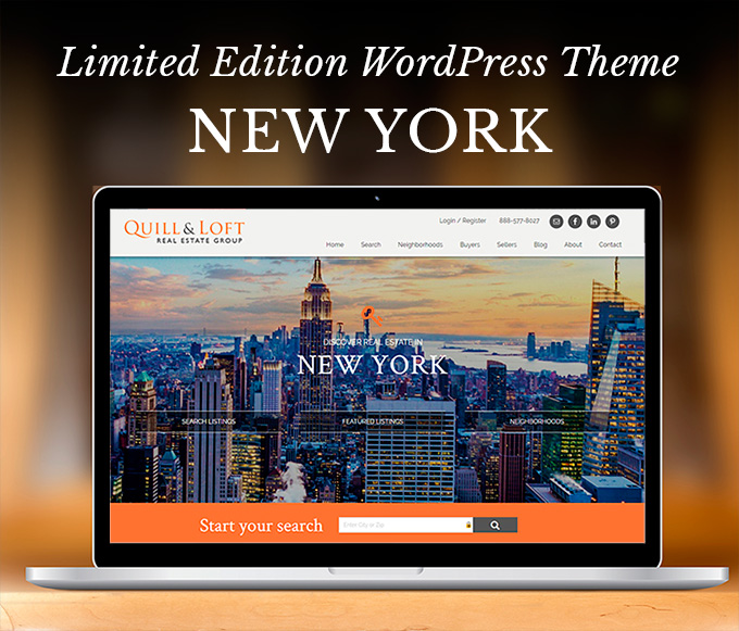 Real Estate WordPress Theme called New York