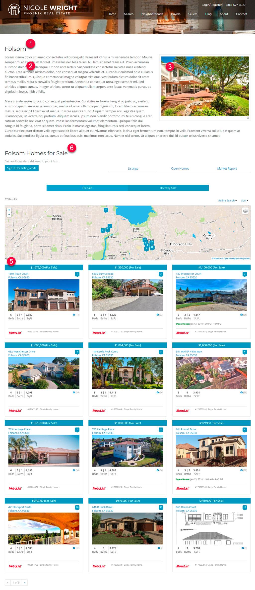 WordPress Real Estate profile page