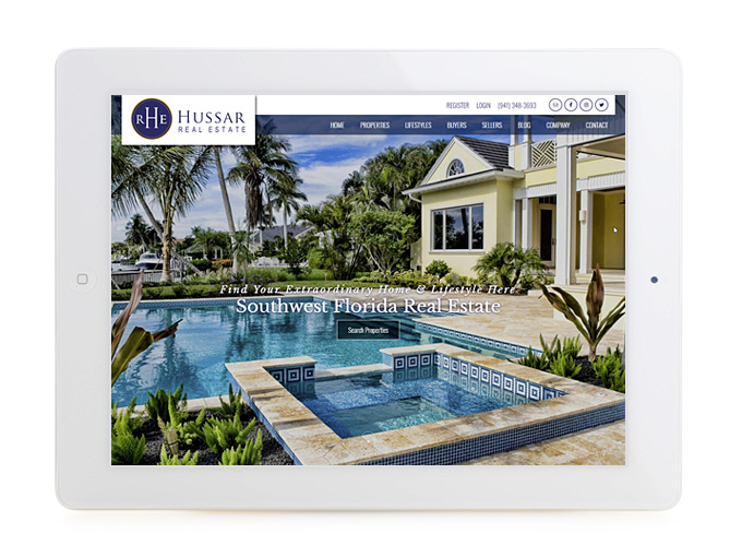 Best Florida Real Estate Website Design Hussar