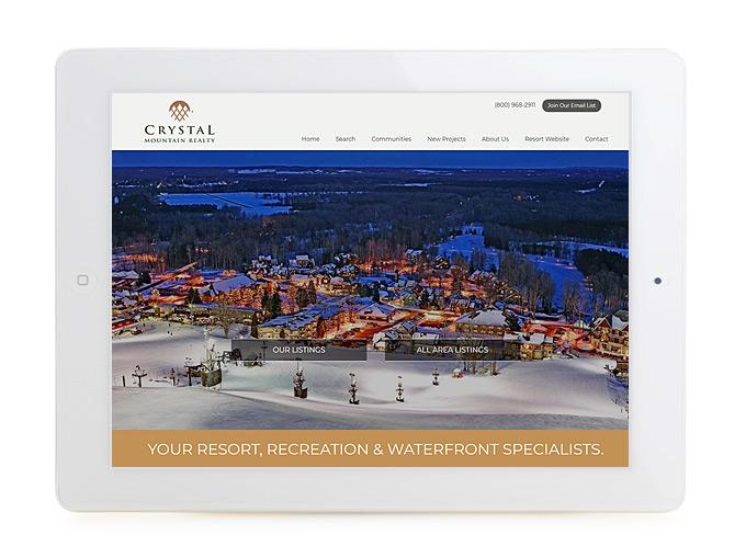 Best Real Estate Website Design Crystal Mountian Realty