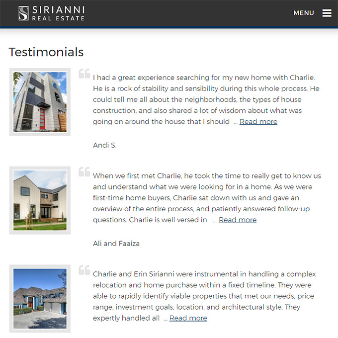 Best Realtor Testimonials for your real estate website