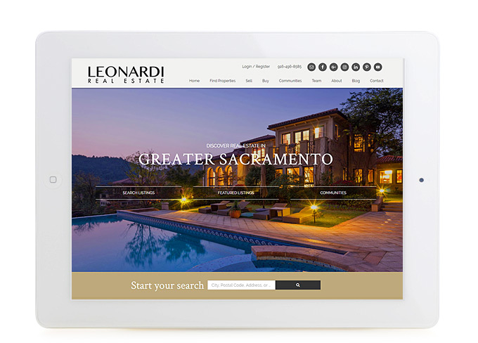 Best Sacramento Real Estate Website Design Leonardi