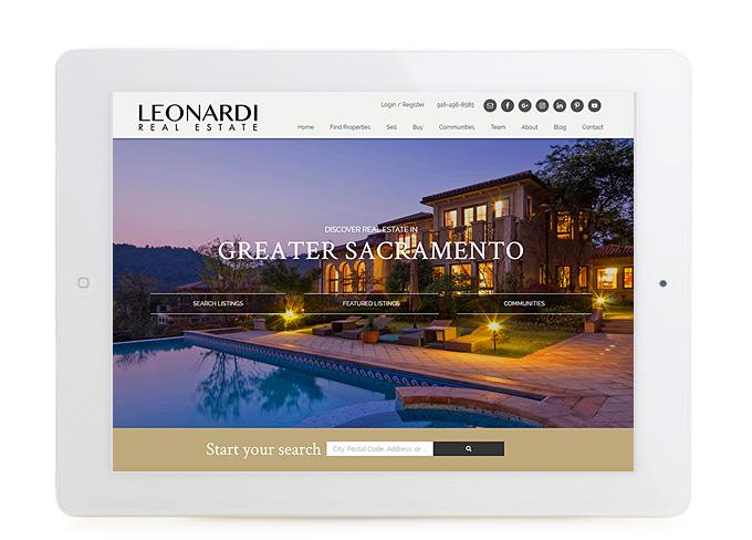 Best Sacramento Real Estate Website Design Leonardi