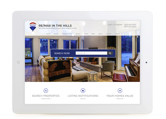 Best South Dakota Real Estate Website Design REMAX in the Hills