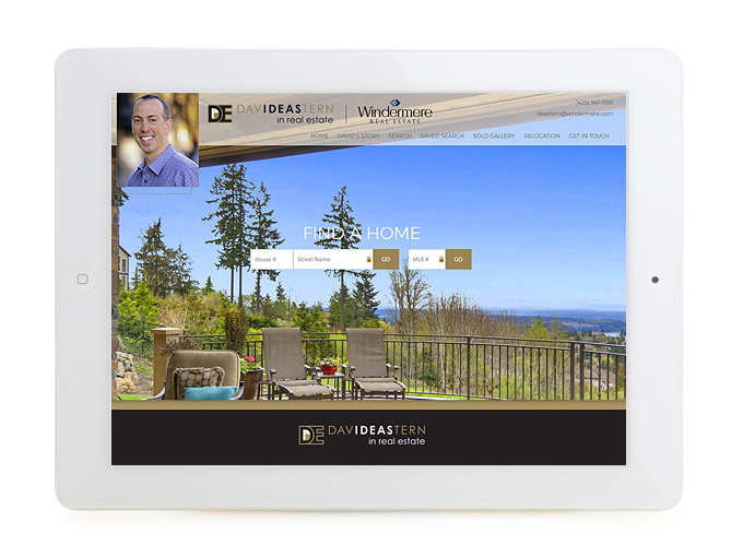 Best Washington Real Estate Website Design David Eastern