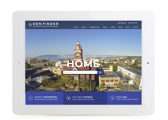 Best Washington Real Estate Website Design Den Finder