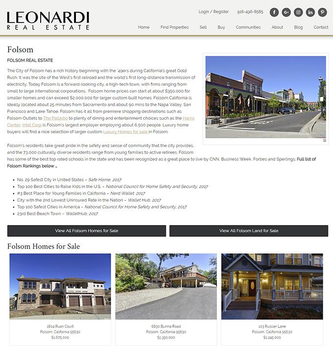 John Leonardi Neighborhood page example