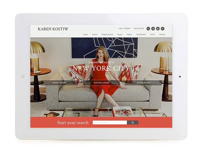 Best New York Real Estate Website Design Karen Kostiw