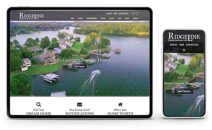 Best Georgia Real Estate Website Ridgeline Realty Service