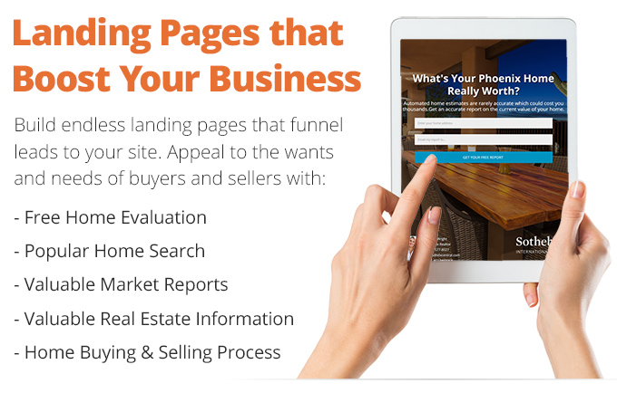 Example Real Estate Landing Pages
